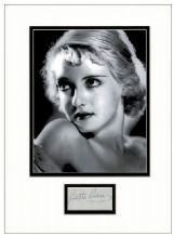 Bette Davis Signed Autograph Display